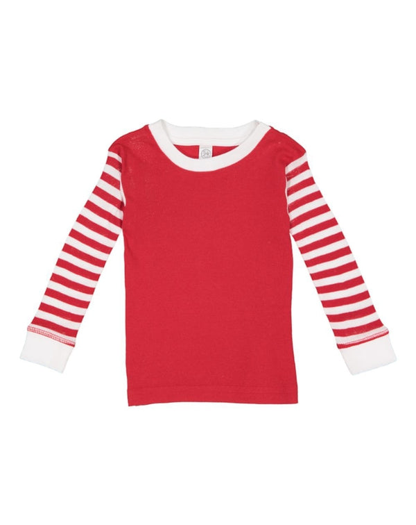 Infant Long Sleeve Baby Rib Pajama Top-Rabbit Skins-Pacific Brandwear