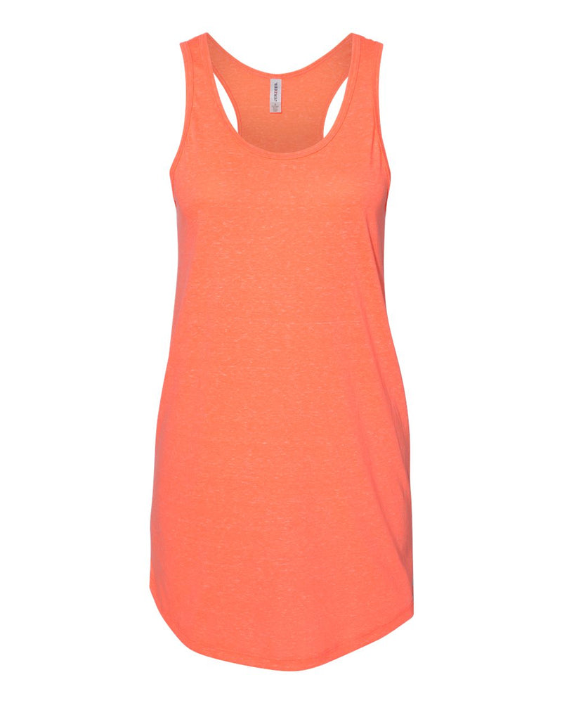 Women's Snow Heather Jersey Racerback Tank Top-JERZEES-Pacific Brandwear