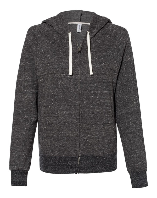 Women's Snow Heather French Terry Full-Zip Hooded Sweatshirt-JERZEES-Pacific Brandwear