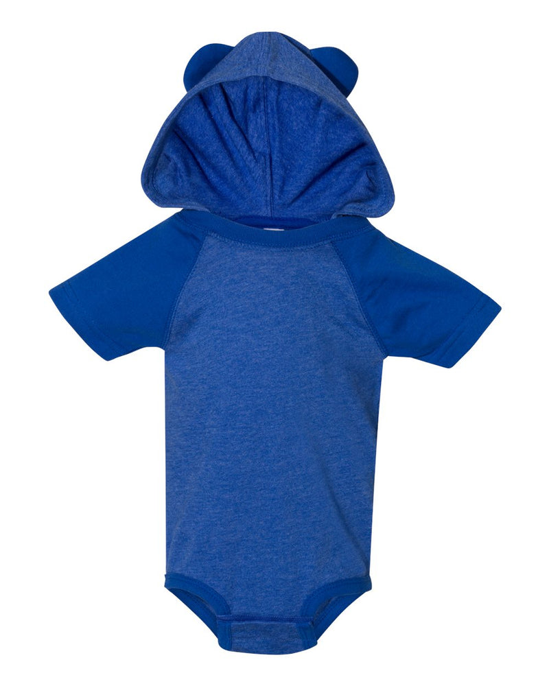 Fine Jersey Infant Short sleeve Raglan Bodysuit with Hood & Ears-Rabbit Skins-Pacific Brandwear
