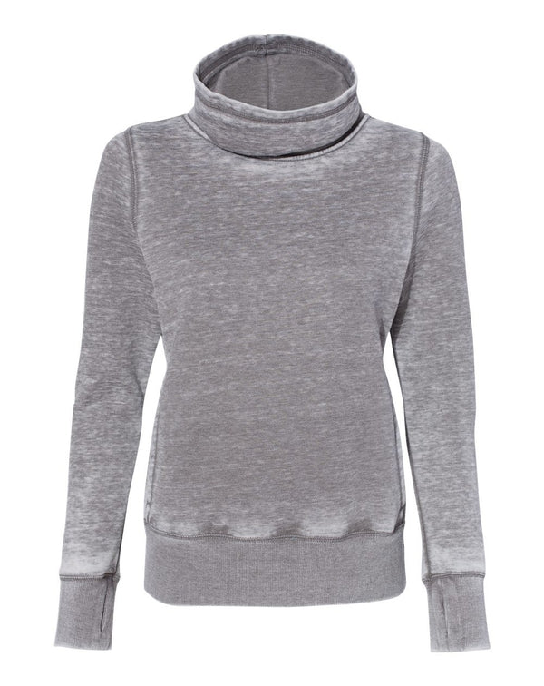 Women's Zen Fleece Cowl Neck Sweatshirt-J. America-Pacific Brandwear