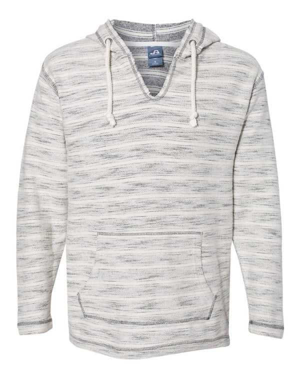 Baja French Terry V-Neck Hooded Pullover-J. America-Pacific Brandwear
