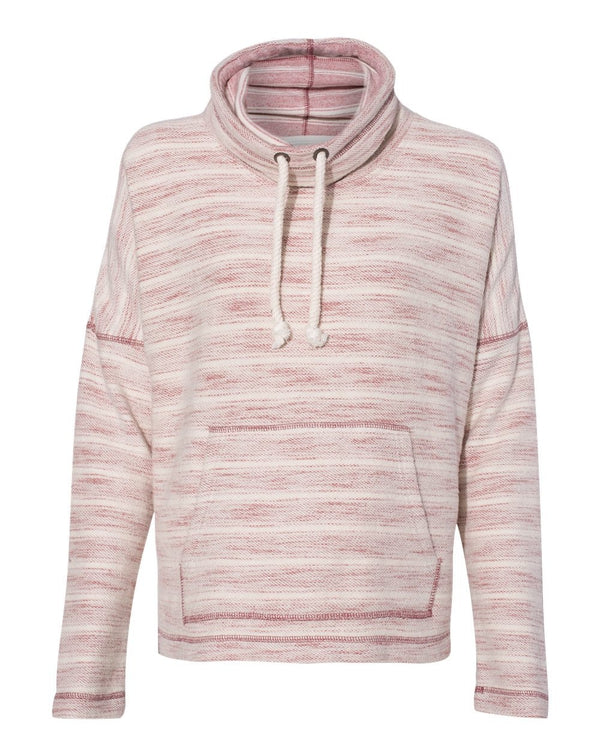 Women's Baja French Terry Cowl Neck Pullover-J. America-Pacific Brandwear