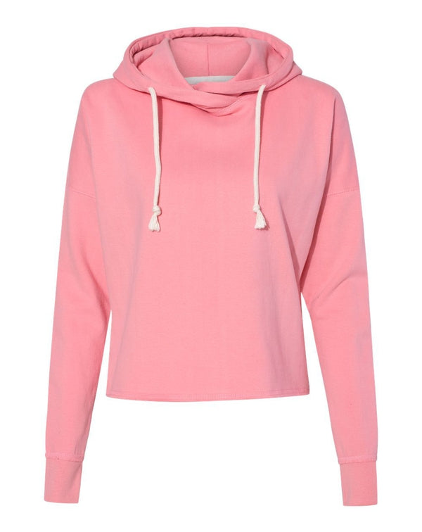 Women's Lounge Fleece Hi-Low Hooded Sweatshirt-J. America-Pacific Brandwear