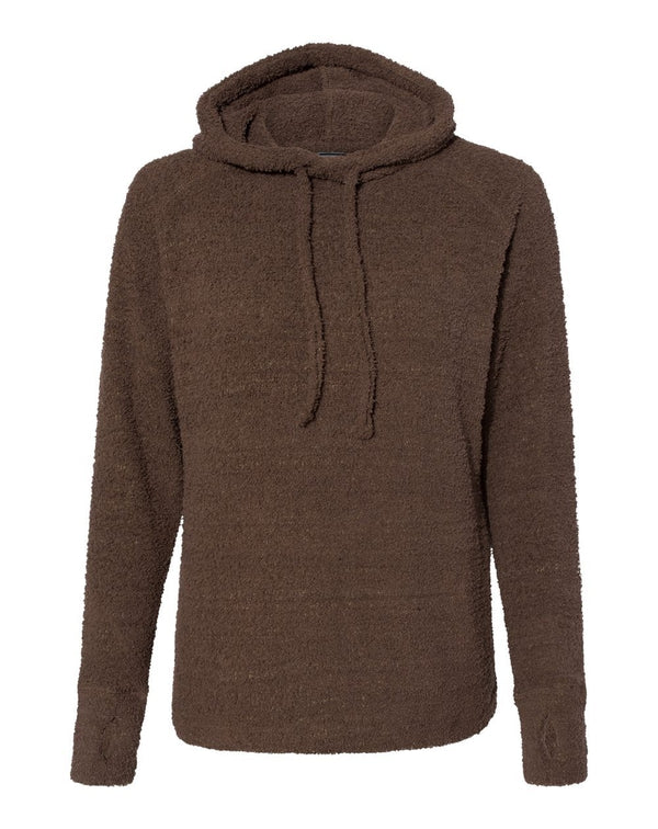 Women's Teddy Fleece Hooded Pullover-J. America-Pacific Brandwear