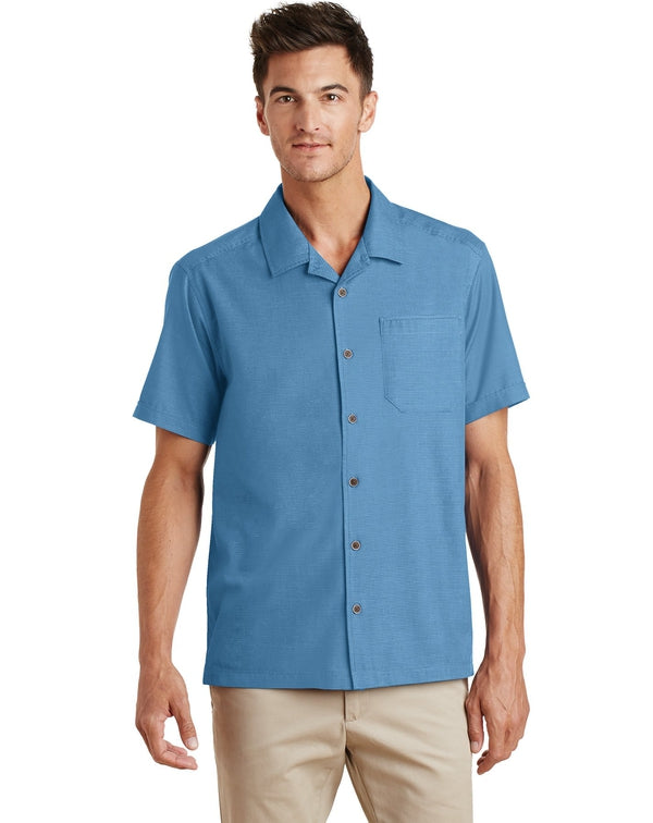 Port Authority®Textured Camp Shirt-Port Authority-Pacific Brandwear