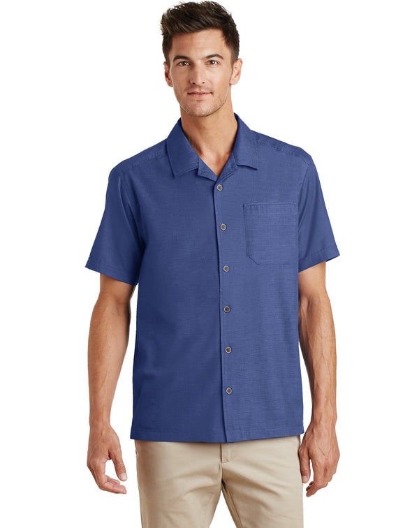 Port Authority® Textured Camp Shirt-Port Authority-Pacific Brandwear