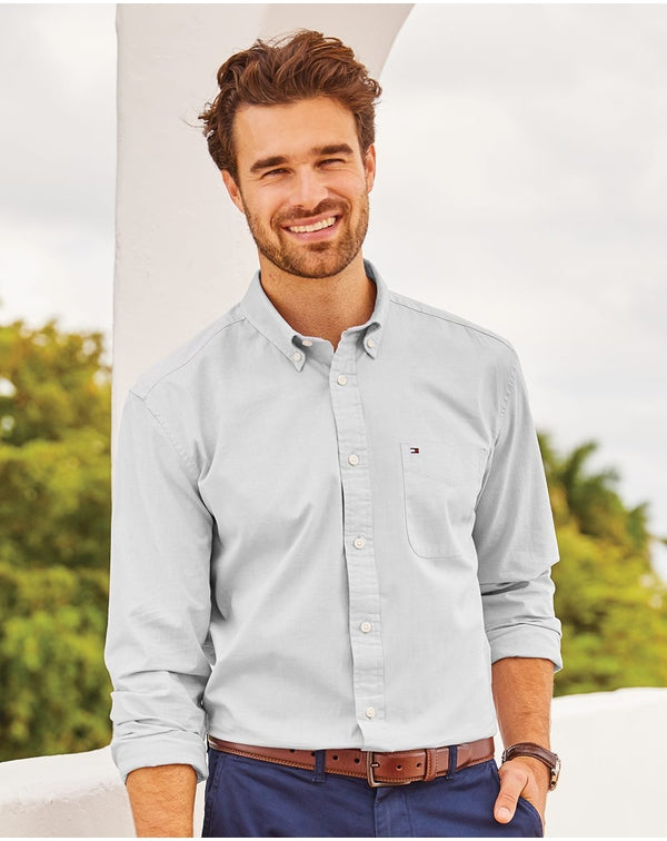 Tommy Hilfiger Capote End-on-End Chambray Shirt-Tommy Hilfiger-Pacific Brandwear