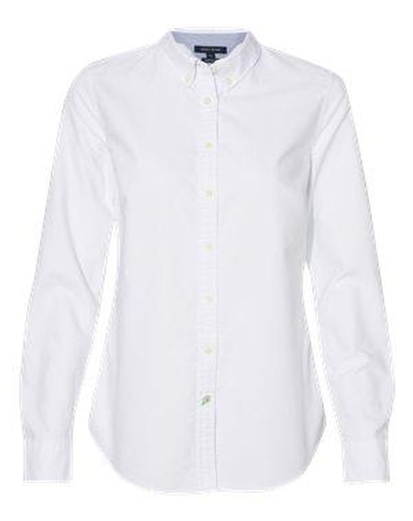 Women's New England Solid Oxford Shirt-Tommy Hilfiger-Pacific Brandwear