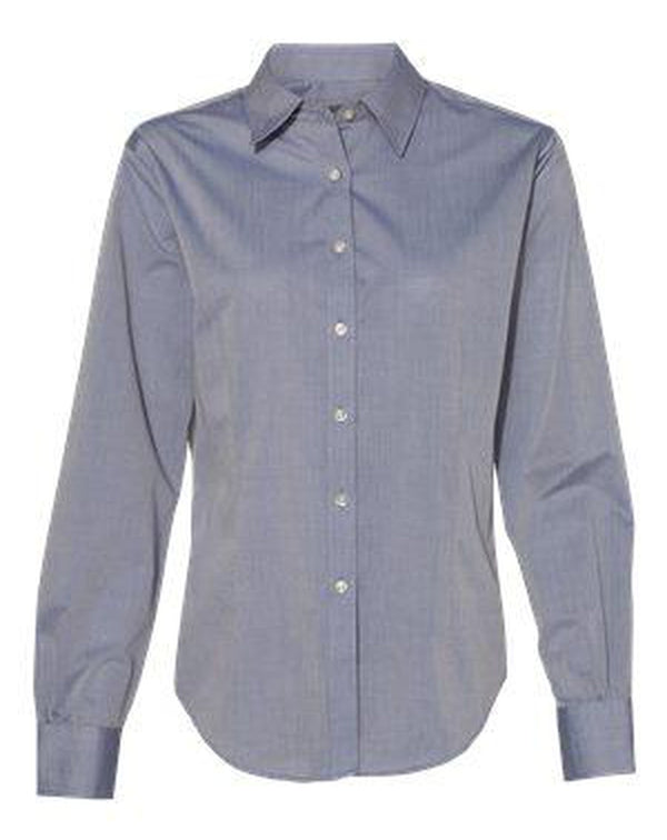 Women's Chambray Spread Collar Shirt-Van Heusen-Pacific Brandwear