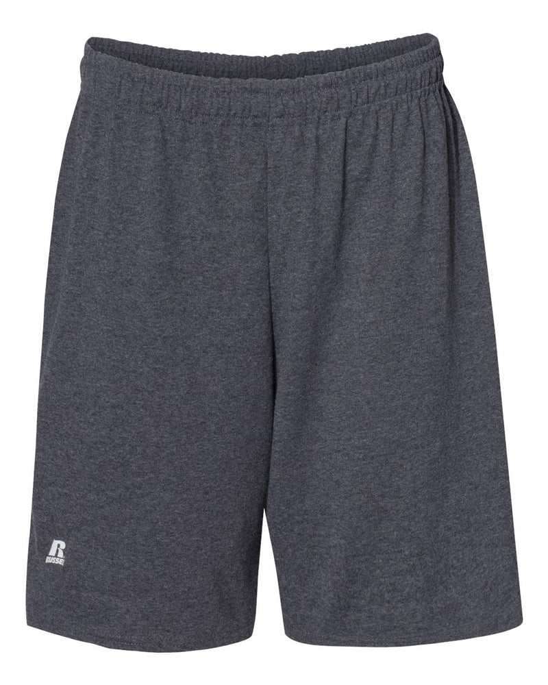 "Essential Jersey Cotton 10"" Shorts with Pockets-Russell Athletic-Pacific Brandwear"