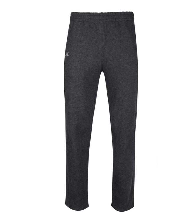Cotton Rich Fleece Open Bottom Sweatpants with Pockets-Russell Athletic-Pacific Brandwear