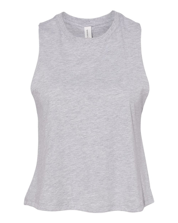 Women's Racerback Cropped Tank-BELLA + CANVAS-Pacific Brandwear