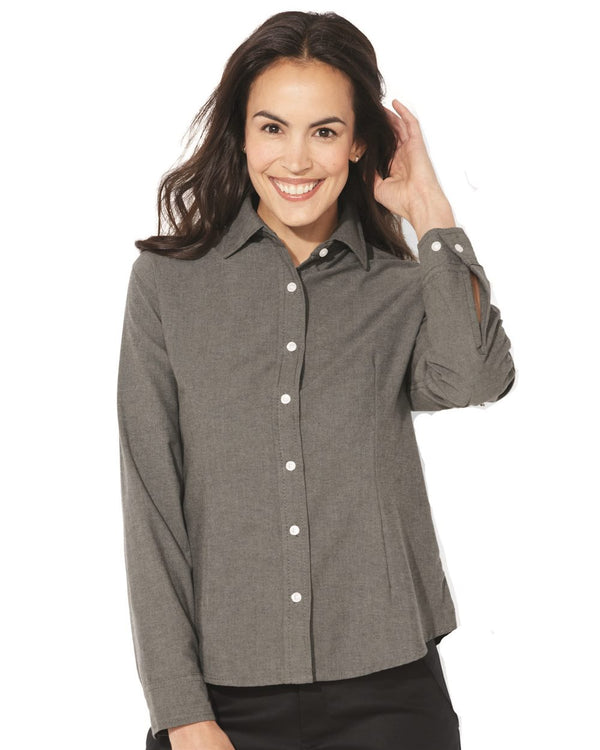 Women's Long sleeve Stain Resistant Oxford Shirt-FeatherLite-Pacific Brandwear