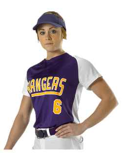 Women's Two Button Fastpitch Jersey-Alleson Athletic-Pacific Brandwear