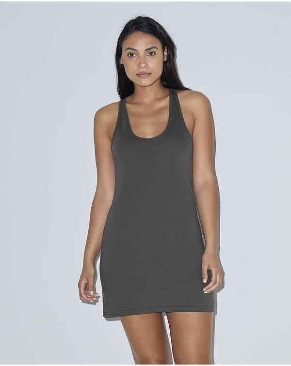 Women's Fine Jersey Racerback Tank Dress-American Apparel-Pacific Brandwear