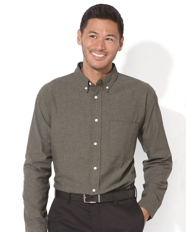 Long sleeve Stain Resistant Oxford Shirt-FeatherLite-Pacific Brandwear
