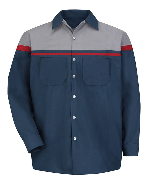 Performance Tech Long sleeve Shirt-Red Kap-Pacific Brandwear