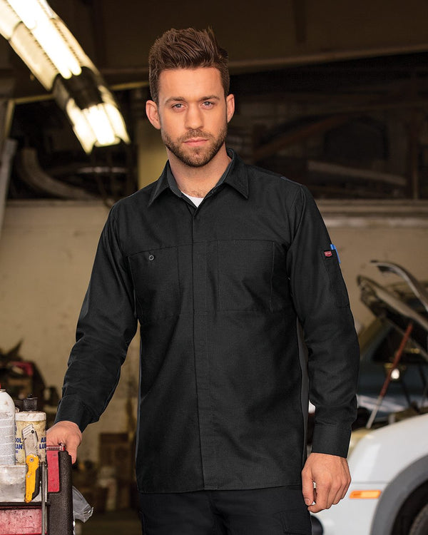 Performance Plus Long sleeve Shirt with OilBlok Technology - Long Sizes-Red Kap-Pacific Brandwear