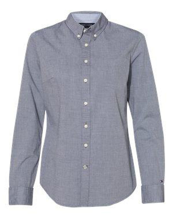 Women's Capote End-on-End Chambray Shirt-Tommy Hilfiger-Pacific Brandwear
