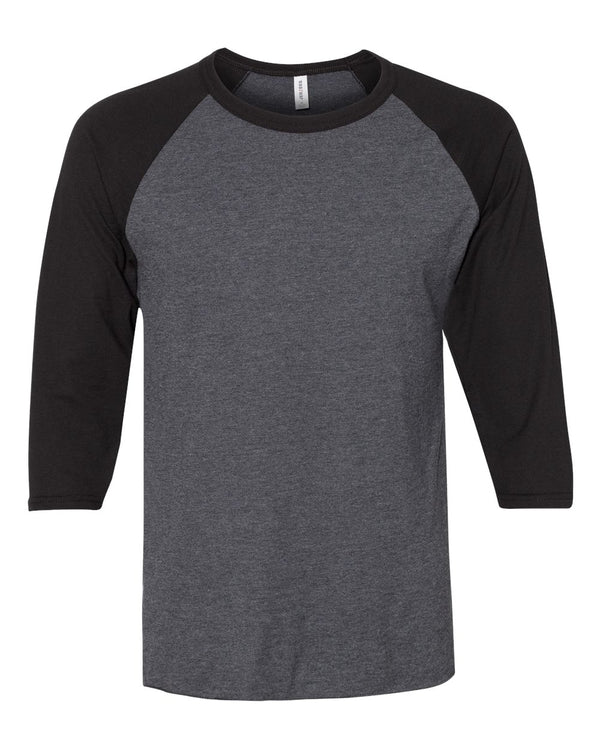 Premium Blend Ringspun Three-Quarter sleeve Raglan Baseball T-Shirt-JERZEES-Pacific Brandwear