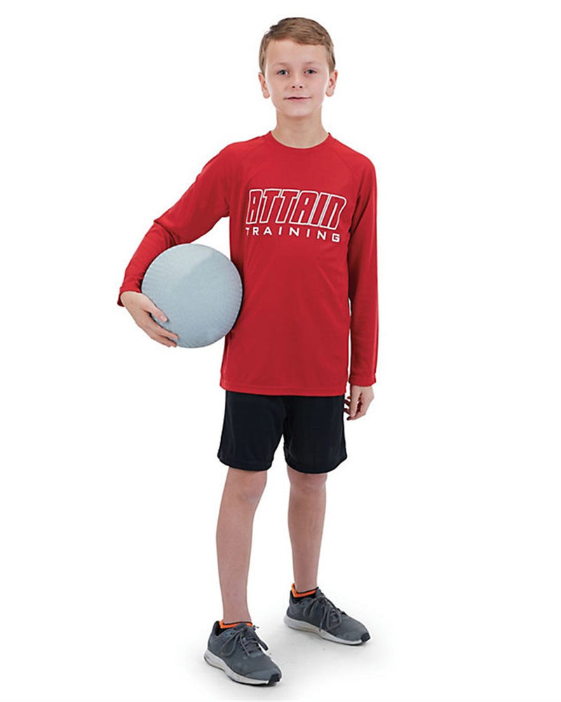 Youth Attain Wicking Long sleeve Shirt-Augusta Sportswear-Pacific Brandwear