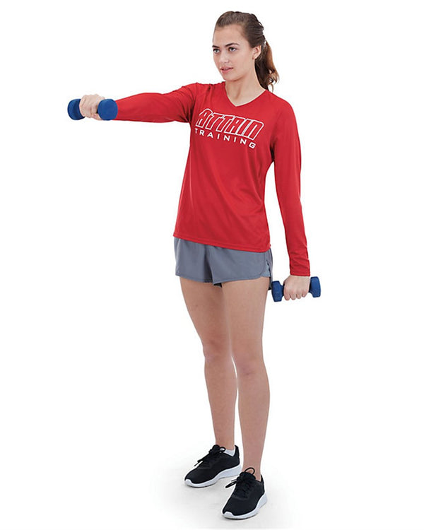 Women's Attain Wicking Long sleeve Shirt-Augusta Sportswear-Pacific Brandwear