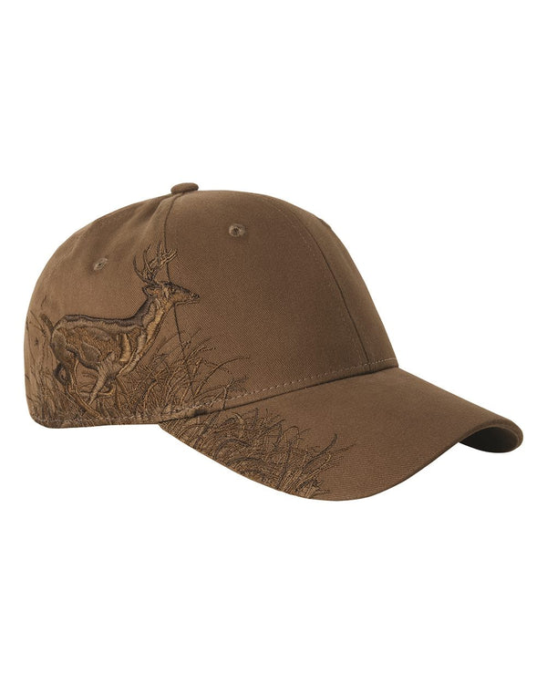 Brown Running Buck Cap-DRI DUCK-Pacific Brandwear