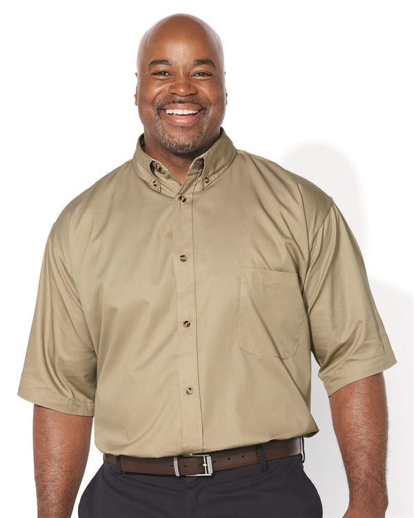 Short sleeve Twill Shirt Tall Sizes-FeatherLite-Pacific Brandwear