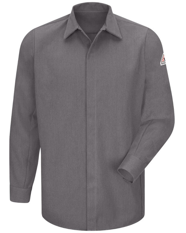Concealed-Gripper Pocketless Long sleeve Shirt - CoolTouch 2-Bulwark-Pacific Brandwear