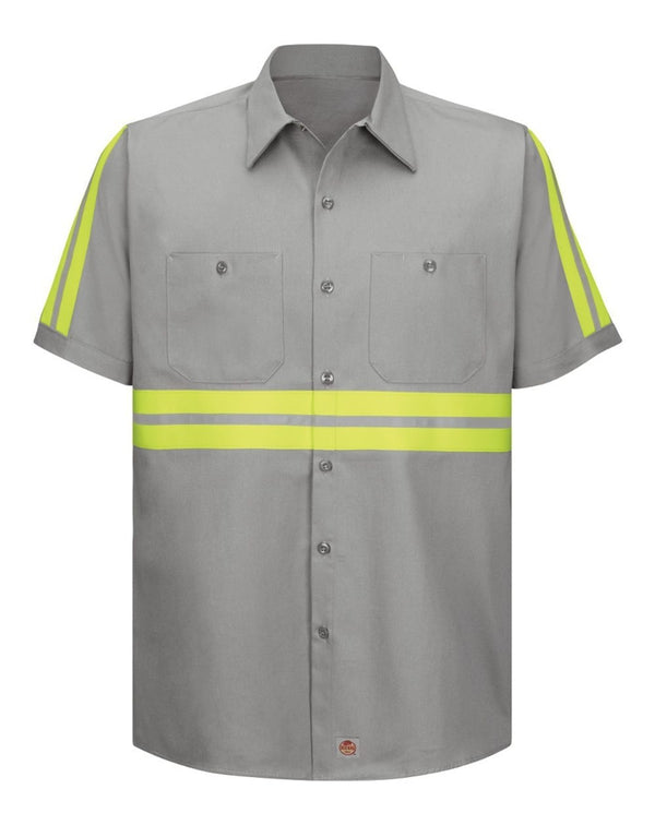 Red Kap Enhanced Visibility Short Sleeve Cotton Work Shirt-Red Kap-Pacific Brandwear