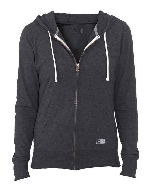 Women's Essential Jersey Full-Zip Hoodie-Russell Athletic-Pacific Brandwear