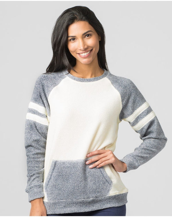 Women's Cozy Contrast Fleece Pullover-Boxercraft-Pacific Brandwear
