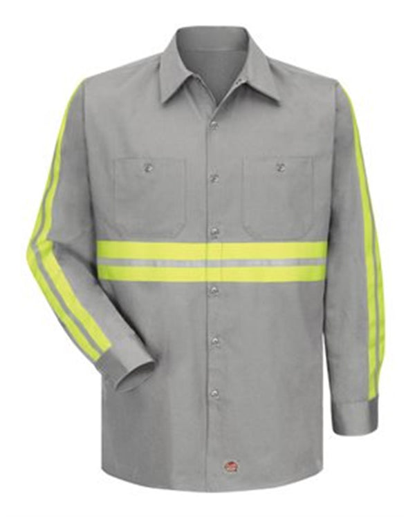 Enhanced Visibility Cotton Work Shirt Long Sizes-Red Kap-Pacific Brandwear