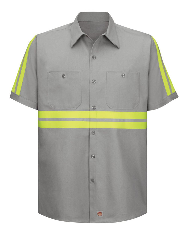 Enhanced Visibility Short sleeve Cotton Work Shirt Long Sizes-Red Kap-Pacific Brandwear