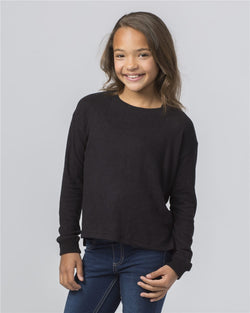 Girls' Cuddle Boxy Sweatshirt-Boxercraft-Pacific Brandwear