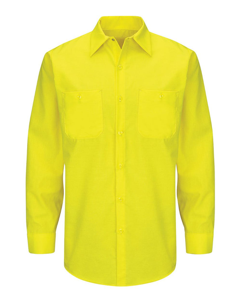 Enhanced & Hi-Visibility Long sleeve Work Shirt-Red Kap-Pacific Brandwear