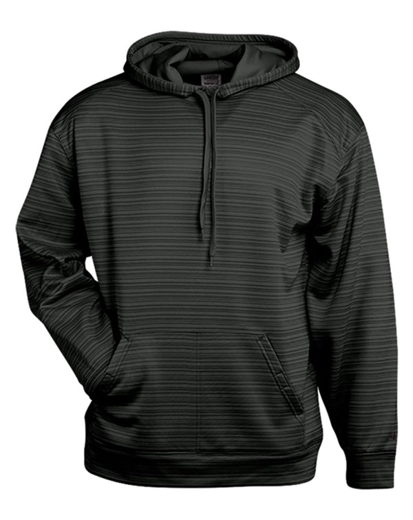Striped Hooded Sweatshirt-Badger-Pacific Brandwear
