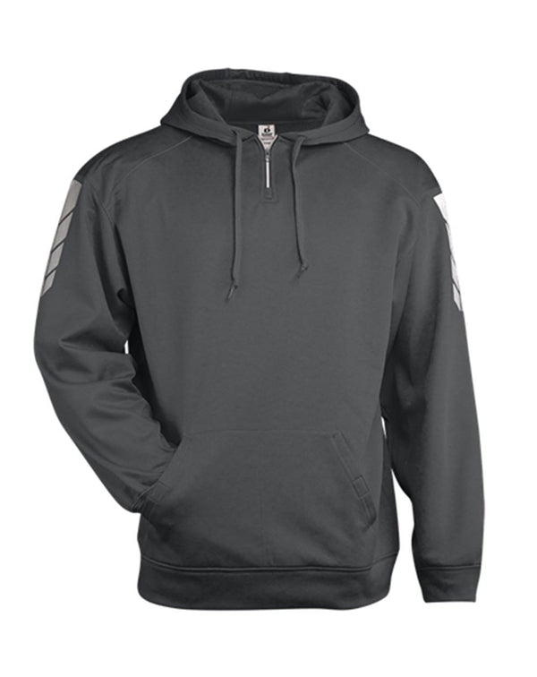 Metallic Fleece Hooded SwestShirt-Badger-Pacific Brandwear