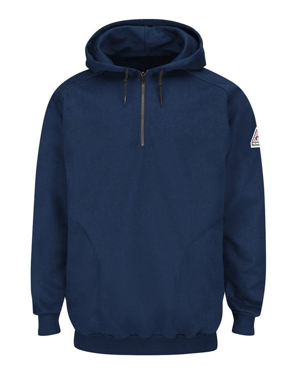 Pullover Hooded Fleece SweatShirt Quarter-Zip-Bulwark-Pacific Brandwear