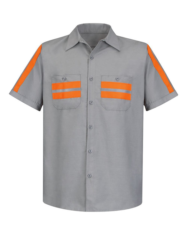 Enhanced Visibility Industrial Work Shirt-Red Kap-Pacific Brandwear