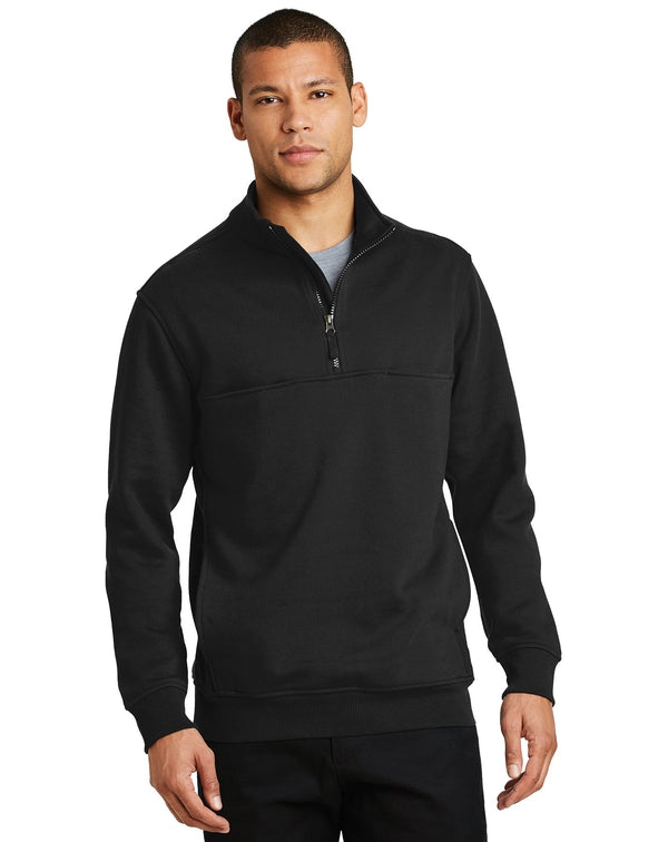 CornerStone® 1/2-Zip Job Shirt-CornerStone-Pacific Brandwear