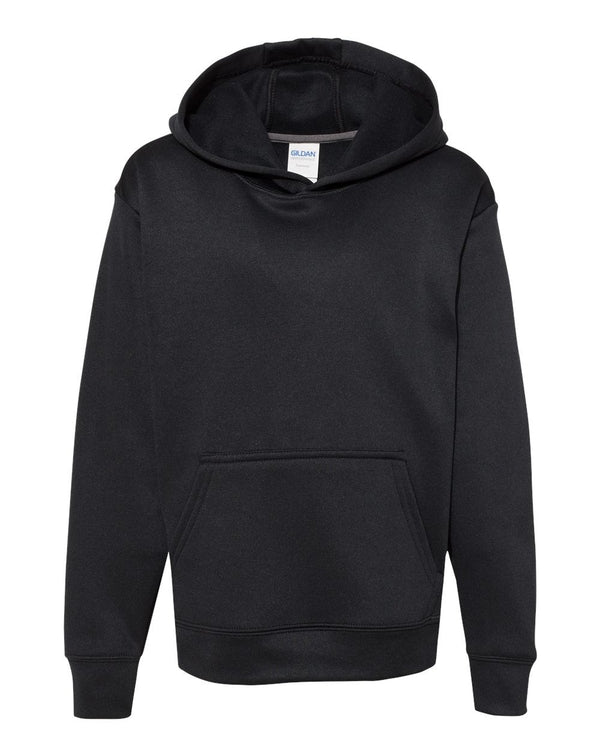 Performance Tech Youth Hooded Sweatshirt-Gildan-Pacific Brandwear
