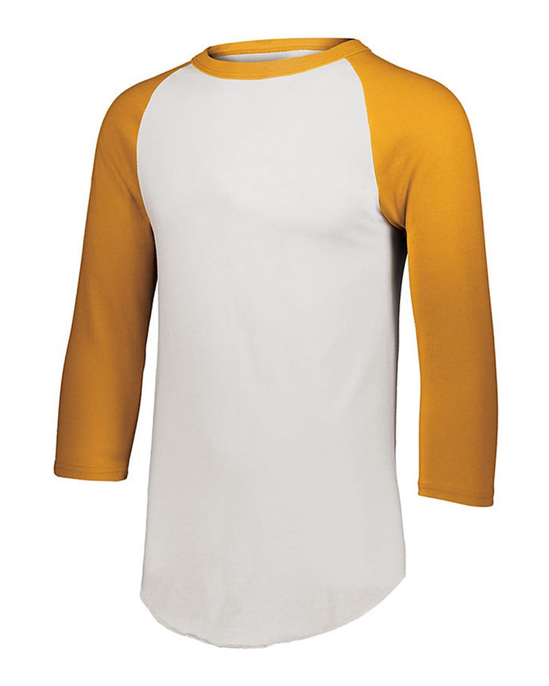 Youth Three-Quarter sleeve Baseball Jersey-Augusta Sportswear-Pacific Brandwear