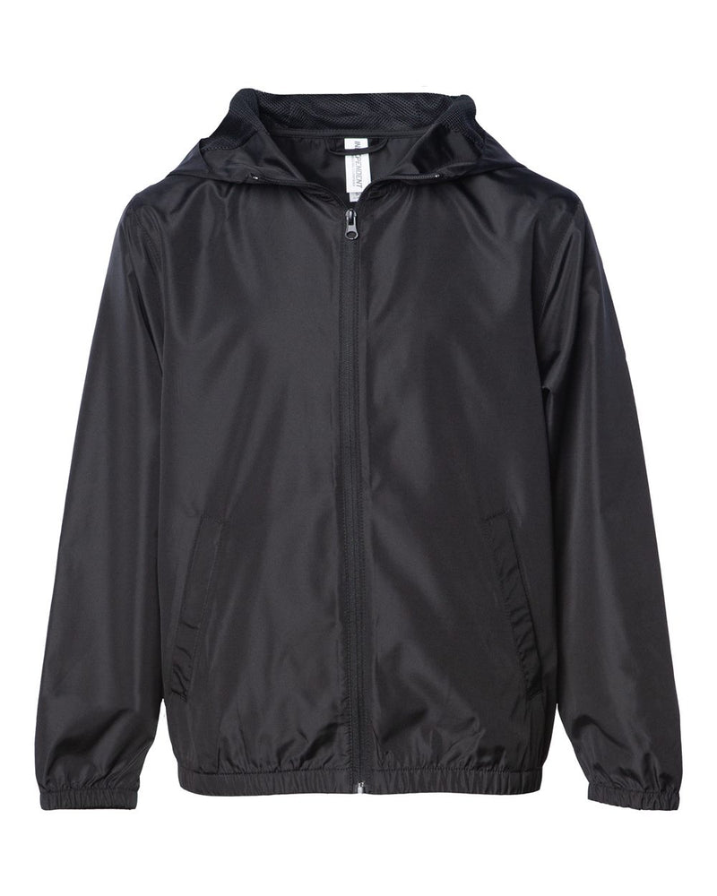 Youth Lightweight Windbreaker Zip Jacket-Independent Trading Co.-Pacific Brandwear
