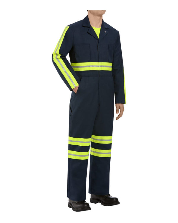 Enhanced Visibility Action Back Coverall - Long Sizes-Red Kap-Pacific Brandwear