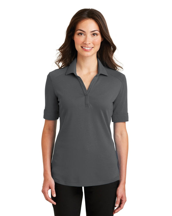 Port Authority® Ladies Silk Touch™ Interlock Performance Polo-Port Authority-Pacific Brandwear