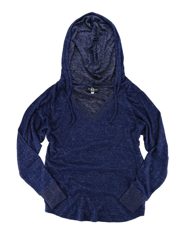 Women's Cuddle Fleece V-Neck Hooded Pullover-Boxercraft-Pacific Brandwear