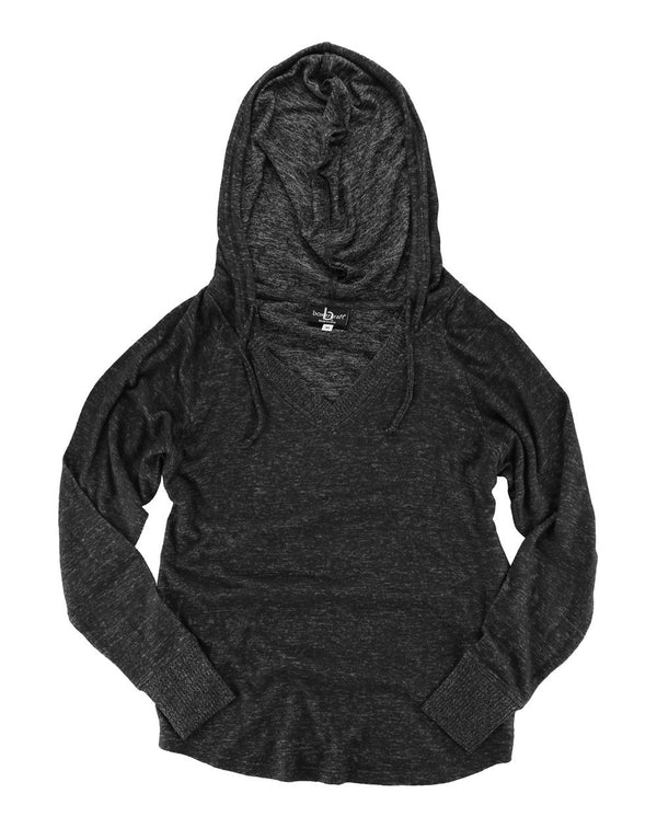 Women's Plus Size Cuddle Fleece V-Neck Hooded Pullover-Boxercraft-Pacific Brandwear