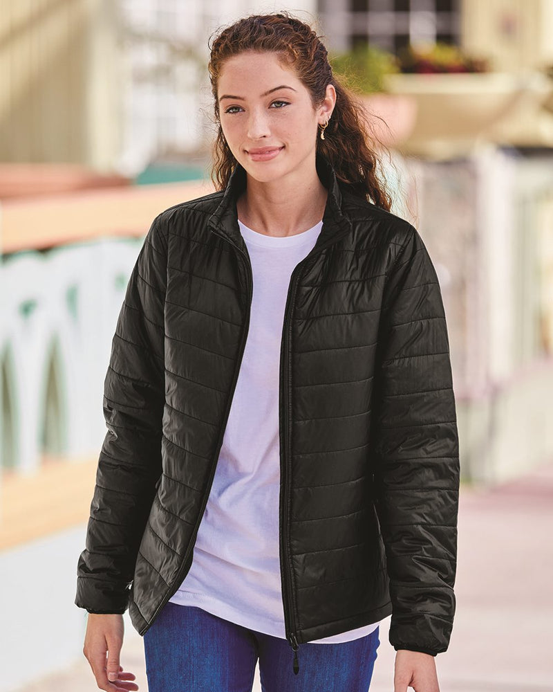 Women's Puffer Jacket-Independent Trading Co.-Pacific Brandwear